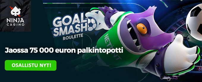Goal Smash Ruletti ja 75k potti
